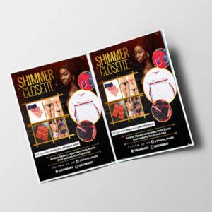 A3 card bi-half fold brochures