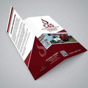 A3 card tri fold brochures