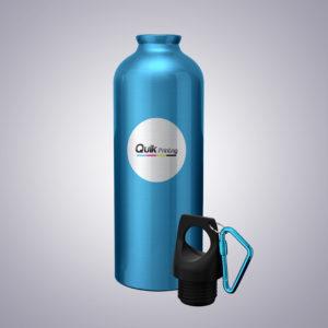 branded water bottle